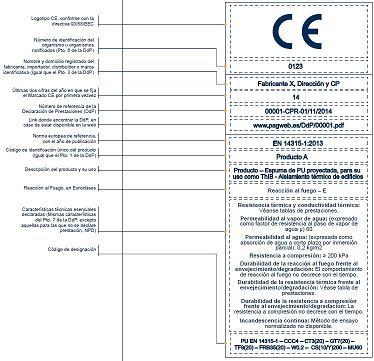 Etiqueta CE de aislamiento térmico
