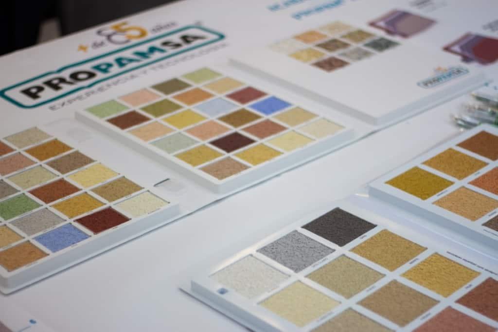 PROPAMSA muestra su amplia gama de colores y texturas de acabado para los sistemas SATE