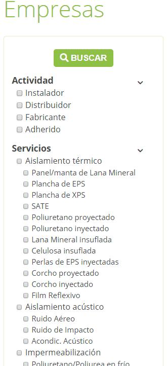 Buscador de instaladores de AISLA