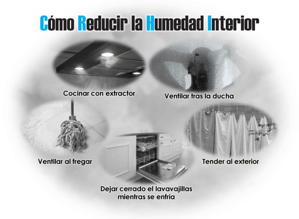 Cómo reducir la humedad interior