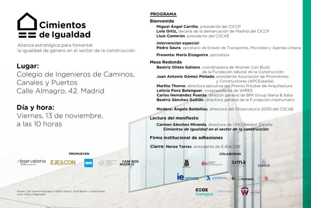 Programa CIMIENTOS DE IGUALDAD