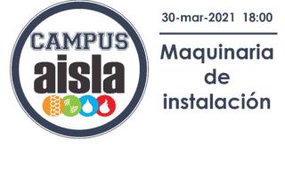 Logo CAMPUS AISLA. Maquinaria